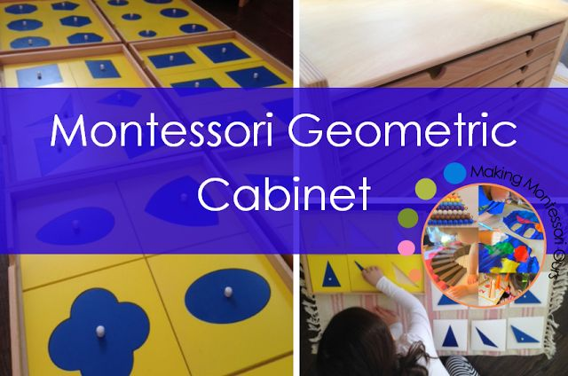 Geometric Cabinet, Montessori Geometry at Home