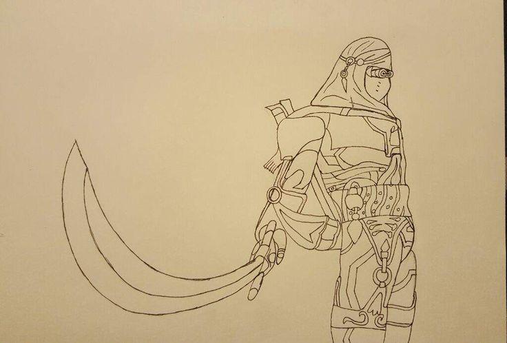Nomad genji outline done | Overwatch Amino