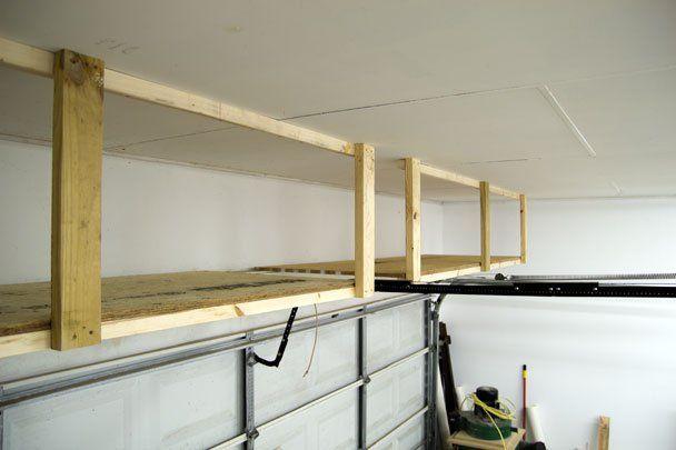 DIY storage above the Garage Door