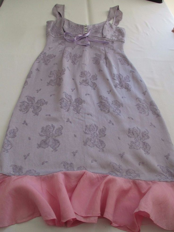 KAREN MILLEN SAMPLE GORGEOUS LILAC BLUE SUBTLE GLITTER PINK TRIM SUN DRESS UK 10 #KARENMILLENSAMPLE #VERSATILE #Casual
