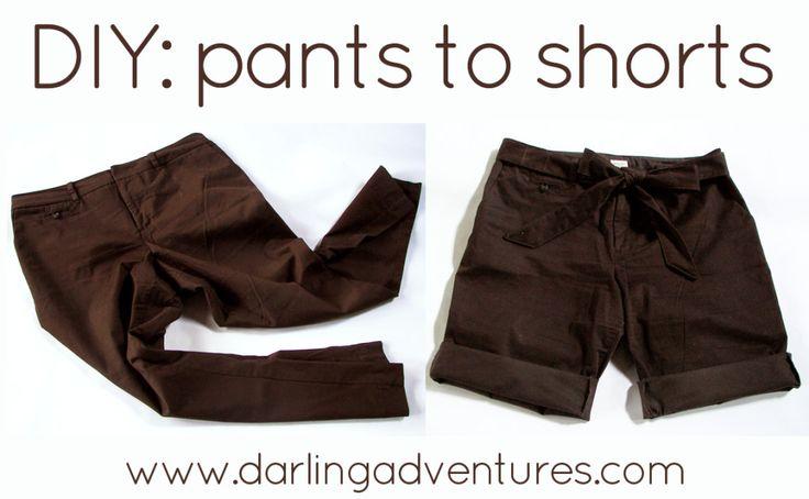 10-summer-refashion-ideas.  Pants to shorts.