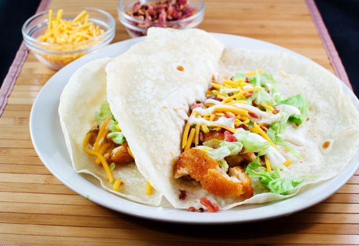 Buffalo Ranch Chicken Tacos (Chili's Crispy Chicken Taco Copycat) (Winger's Sauce Copycat)