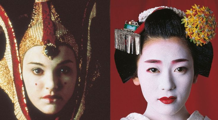 O look oriental da rainha Amidala - Made in Japan