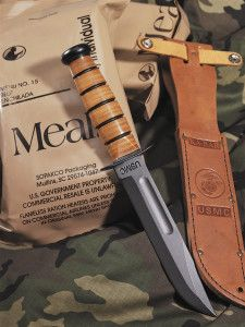 The U.S. Marine Corps version of the Ka-Bar, originally introduced on December 9, 1942, remains popular among both military personnel and civilians.