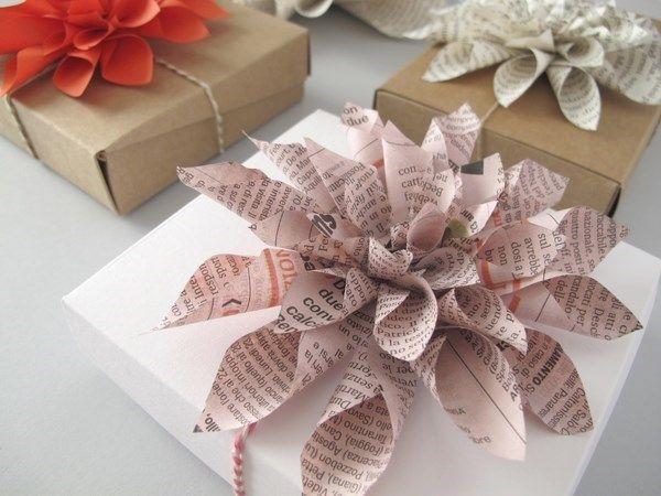Le Frufrù: Dalie di carta, paper dahlia packaging