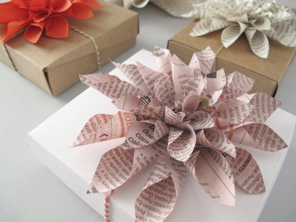 Le Frufrù: Dalie di carta, paper dahlia packaging