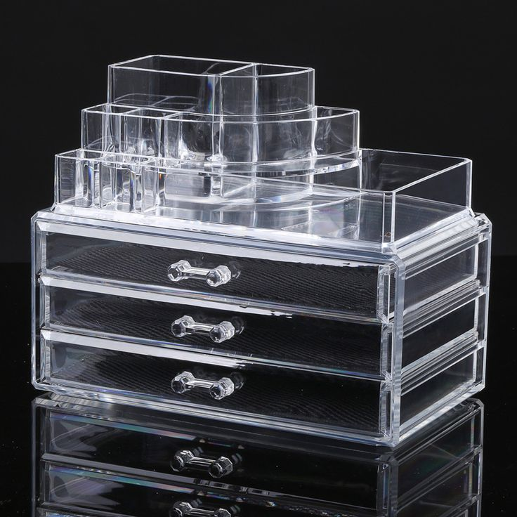 Makeup/Cosmetic Holder and Storage Stand from Clear Acrylic Plastic with 3 Drawers //Price: $31.32 & FREE Shipping //   #makeuptools