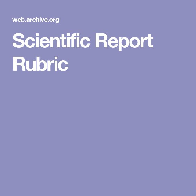 Scientific Report Rubric Middle School Science Ideas Pinterest - scientific report