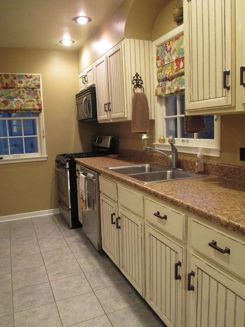 beadboard on kitchen cabinets 2