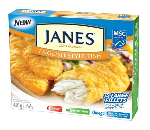 Janes English Style Fish - sustainably sourced, wild-caught whole fillets, enveloped in a traditional English style batter. Crispy on the outside, light and flaky on the inside these large fillets are an excellent choice for a fish & chip supper at home. Pass the malt vinegar!
