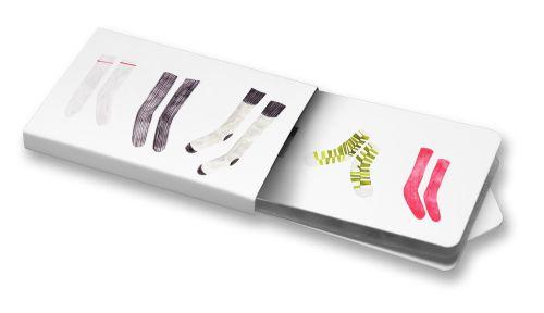 Markéta Josefína Šestáková - Ponožky #socks #ilustration #clothes #waterColor  #ChewingGums #Žvýkačky