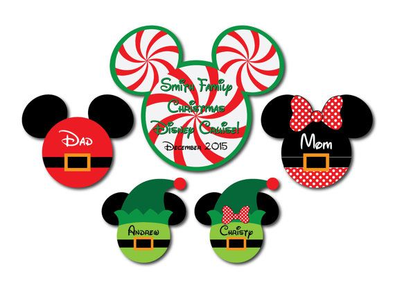 Personalized Family Christmas Disney Cruise by plumeriaprints