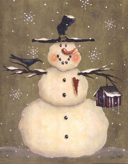 Frosty Friends art print at Botany Bay Art