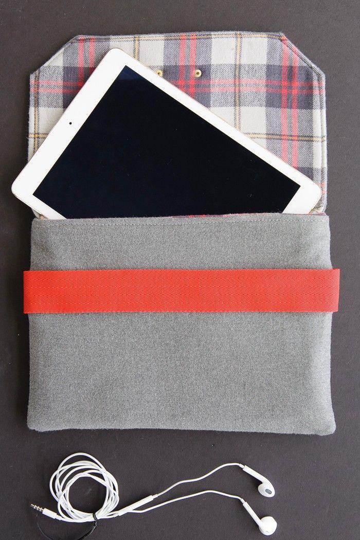 Nähe dir deine eigenen Tasche fürs iPad. Die Anleitung dafür und noch viele andere findest du hier: http://www.gofeminin.de/wohnen/naehen-fuer-anfaenger-som2714.html