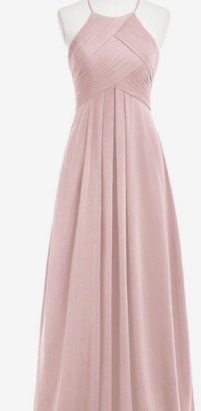 Halter Bridesmaid Dress,Nude Chiffon Bridesmaid Dresses,Empire Dress for Bridesmaid,APD2256