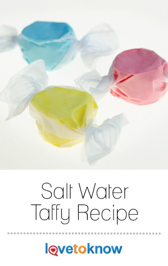 Salt water taffy evokes memories of vacations by the ocean, the sounds of children enjoying carnival rides, and cool sea breezes. You don't need to go on vacation to make this festive candy at home. | Salt Water Taffy Recipe from #LoveToKnow