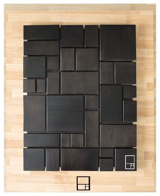 tableau composition bois