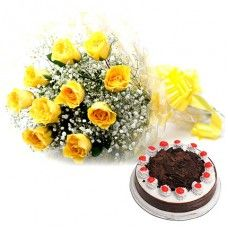 Yellow Roses Combo