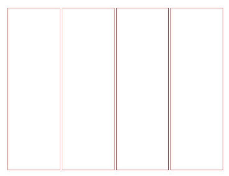 Blank Bookmark Template for Word | This is a blank template that can be customized to suite your needs ...