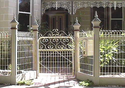 Beautiful example of a woven wire loop fence with a historic look ...
