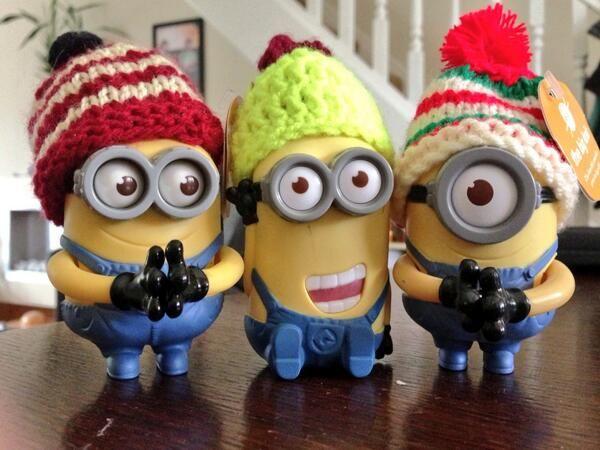 Minion Monday - @Wendy Felts Felts Atkins sent us this awesome photo of her minions rocking Big Knit hats