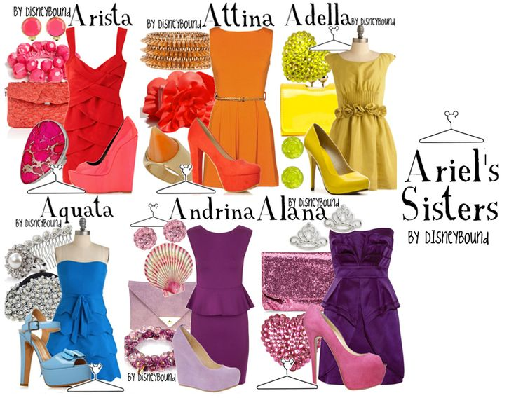 ARIEL'S SISTERS ~ Arista - Krista Smith, Attina - Alexis Pierce, Adella - Chandler Morris, Aquata - Sami Seiden, Andrina - Katie Presswood, Alana - Carly Edlin