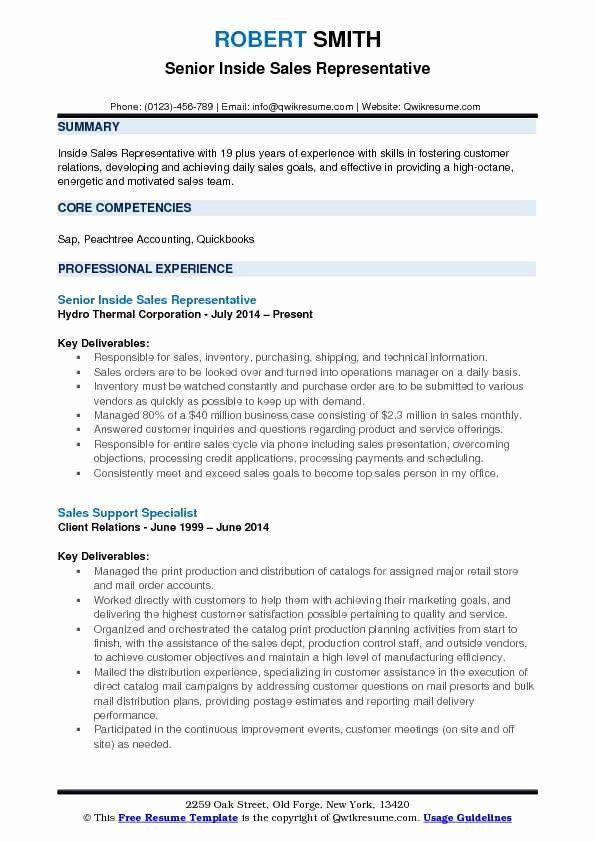 Sales Representative Resume Description Awesome Inside Sales Representative Resume Samples In 2020 Sales Resume Examples Good Resume Examples Medical Coder Resume