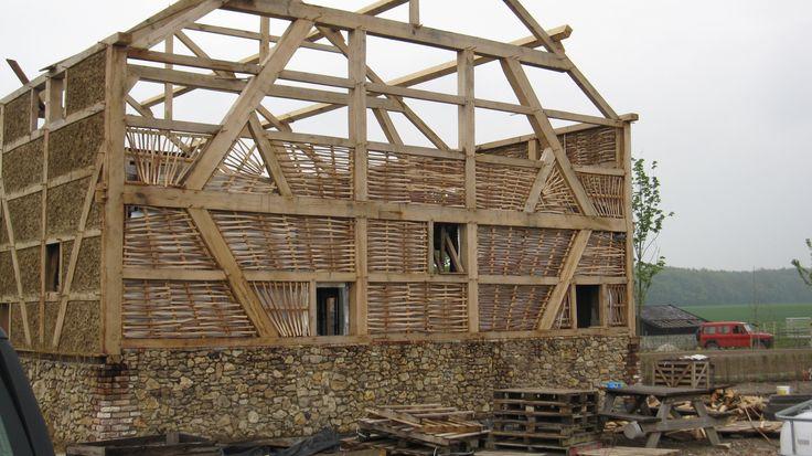 Vakwerkhuis in aanbouw bij restaurant de smokkelaar Eperheide