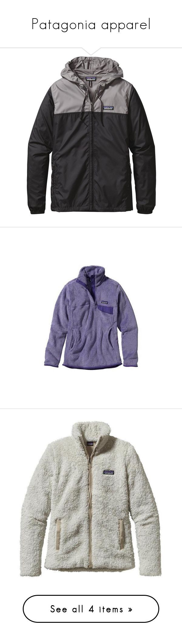 """Patagonia apparel"" by diamondmichelle19 ❤ liked on Polyvore featuring jackets, tops, outerwear, coats & jackets, patagonia, sweaters, prep jackets, purple, patagonia pullover and thermal sweater"