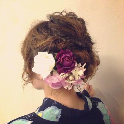 NOAH'S ARKのヘアスタイル | 浴衣に似合うルーズヘアアレンジ | 東京都・八王子の美容室 | Rasysa(らしさ)
