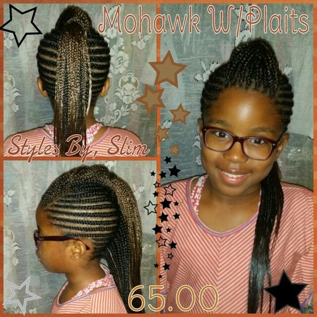 Cornrows Into A Mohawk With An Under Single Twist Down The