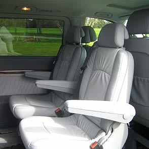 Interior of a Mercedes Viano - Touring Vehicles for small size groups