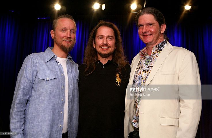 Musicians Alex Orbison, Roy Orbison Jr. and Wesley Orbison attend Reel to Reel: Mystery Girl Unraveled at The GRAMMY Museum on May 20, 2014 in Los Angeles, California.