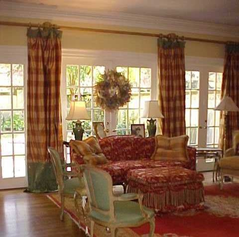 French doors really add to the ambiance of this relaxed country design...