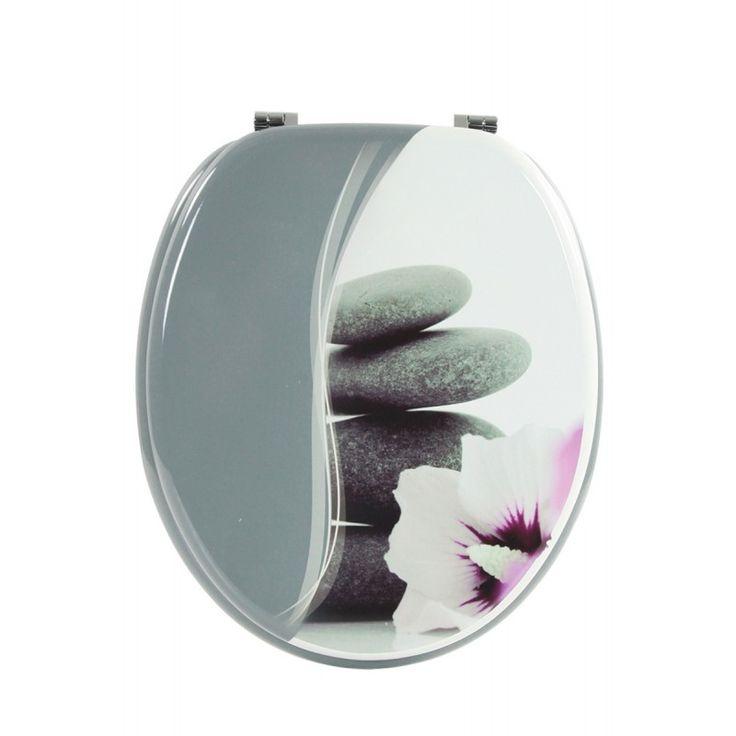 1000 ideas about abattant wc on pinterest mitigeur - Deco wc gris ...