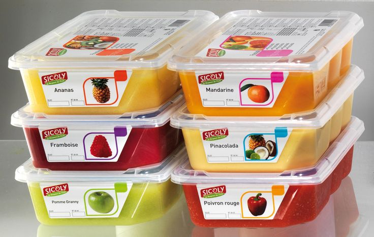 Κατεψυγμένοι πουρέδες φρούτων της εταιρείας Sicoly στην Ελλαδα από τη Granikal.