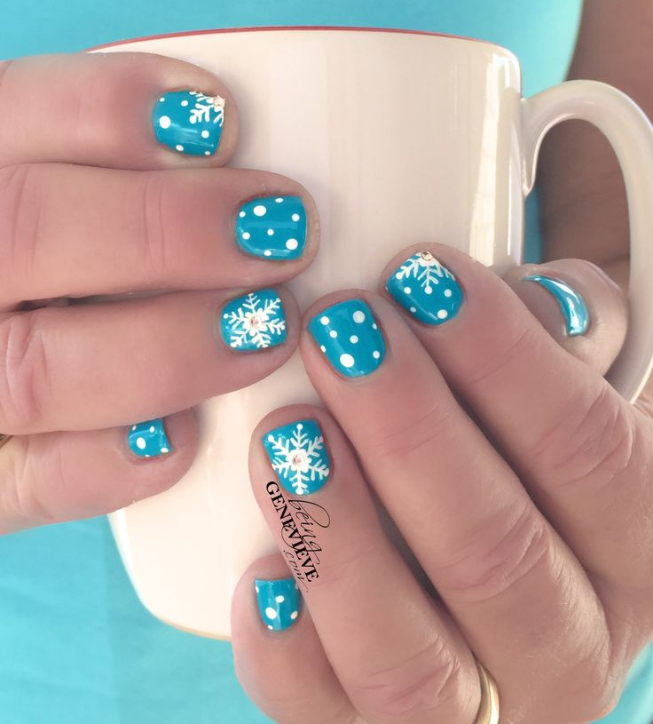 Let It Snow Nail Art Tutorial found on BeingGenevieve.com