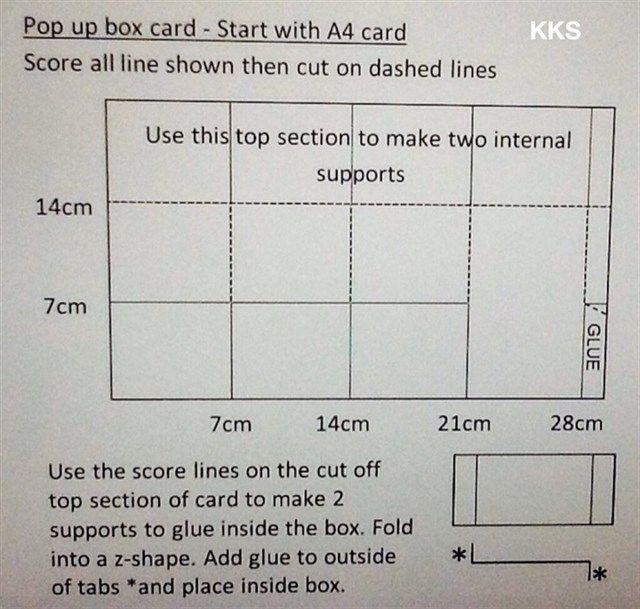 Pop up box card measurements | docrafts.com                                                                                                                                                                                 More