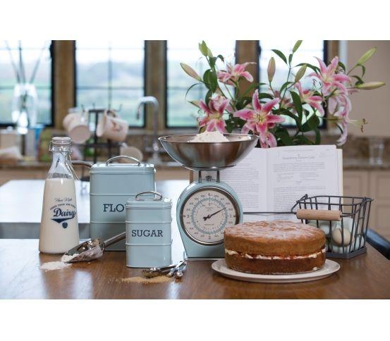 Kitchen Living Nostalgia - Pojemnik na mąkę, miętowy kuchnia, akcesoria do kuchni kitchen craft