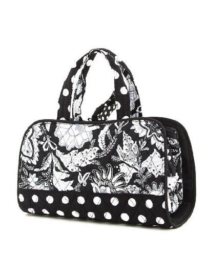 """Belvah Quilted 3pc Floral Cosmetic Tote Bag (BKWH) Belvah. $24.95. Length/Height/Width : 11.0"""" / 6.0"""" / 4.5"""", Bow Tie Closure"""