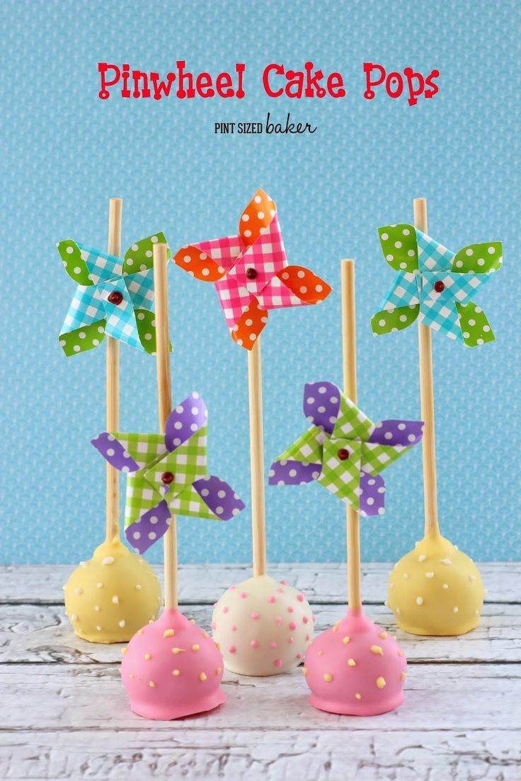 Summer is quickly approaching! Pick up some Pinwheel Straws or lillipop sticks at the craft store and make some fun Pinwheel Cake Pops for a summer party!