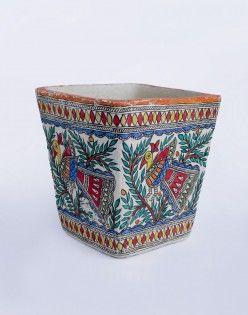 Madhubani Painted Waste Paper Basket