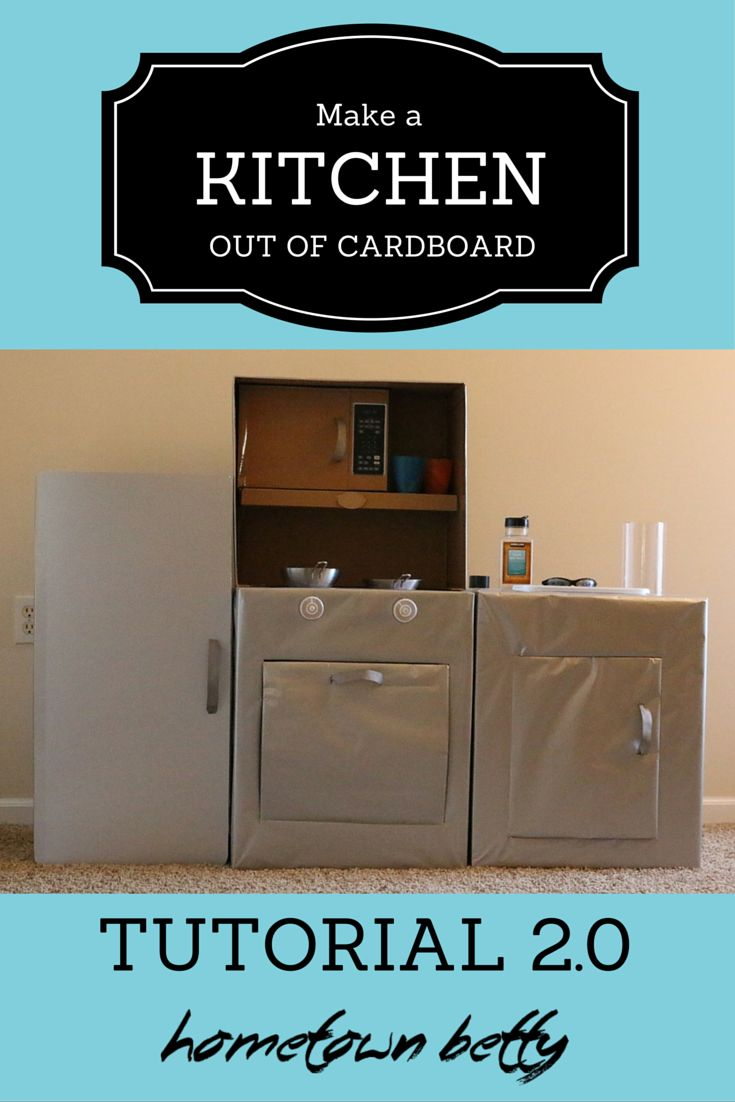 Ready to make a kid play kitchen out of cardboard? This is a four-part series of instructions. Here are instructions to make a refrigerator, part 1.