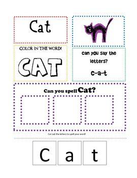 K Words For Kindergarten CVC word practice pre-k kindergarten writing reading