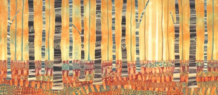 Autumn Tree Lines by Rebecca Vincent