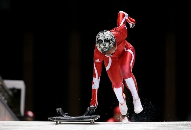 Sarah Reid of Canada | 14 Photos That Prove That Skeleton Is The Most Badass Sport At Sochi