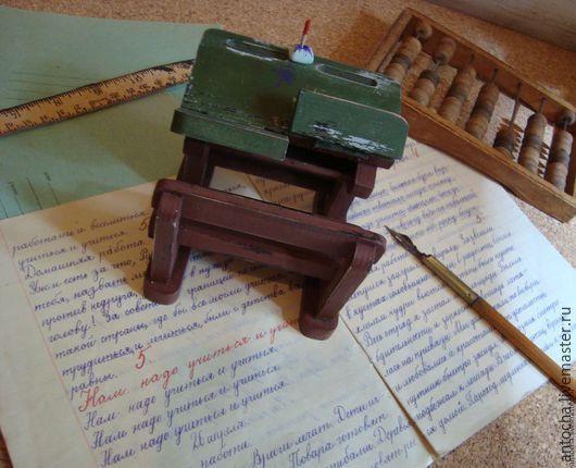 """Купить Парта сувенир """"Школьная пора"""" - Парта, ретро, школа, винтаж, подарок, день учителя"""