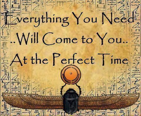 Everything you need will come to you at the perfect time. #quotes #motivation #inspiration