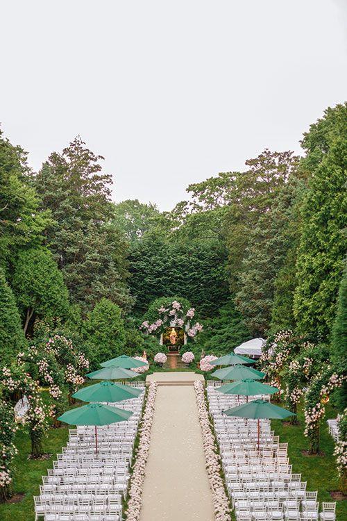Garden-Inspired Hamptons Wedding, Outdoor Wedding Ceremony