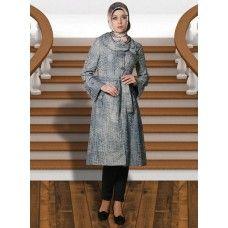 Irani Manto/Coat in Gunsmoke color